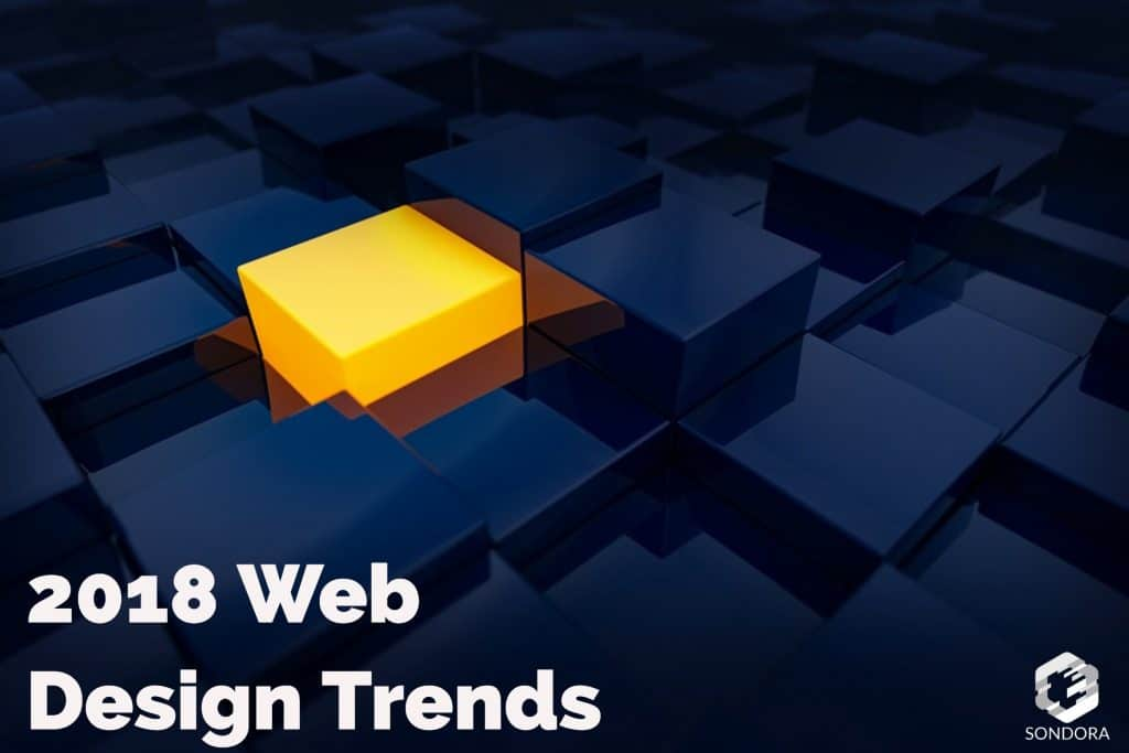 2018 web design trend 1st half of the year