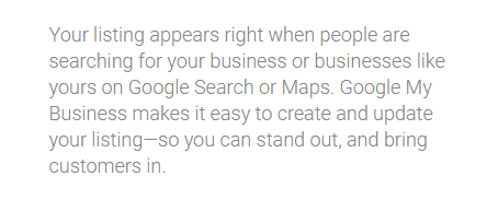 google listing spot
