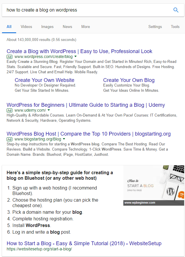 seo blogpost wordpress
