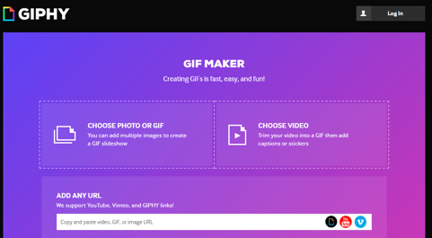 creare gif online giphy