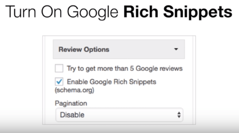 insert Google Reviews widget
